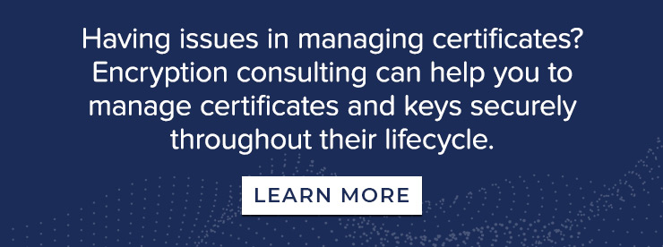 EC can help you to manage Certificates and Keys securely