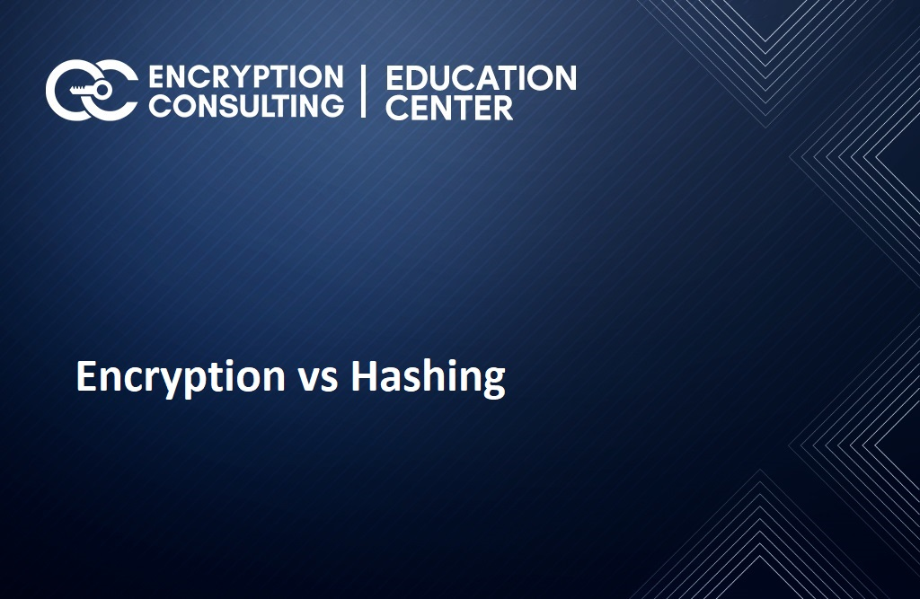 Encryption vs Hashing
