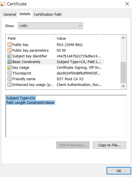 Subject Type as CA - Introduction to Certificate Extension - Basic Constraints