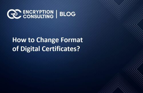 How to Change Format of Digital Certificates?