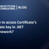 How to access Certificate's private key in .NET Framework?